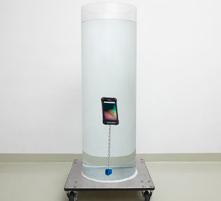 防水実験の写真
